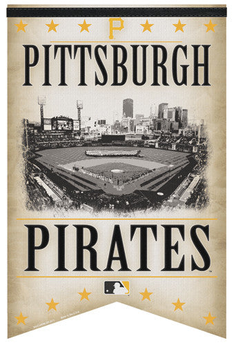 "Pittsburgh Pirates ""Classic Gameday"" Premium Felt Collector's Banner - Wincraft Inc."