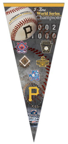 Pittsburgh Pirates 5-Time World Champs EXTRA-LARGE Premium Pennant