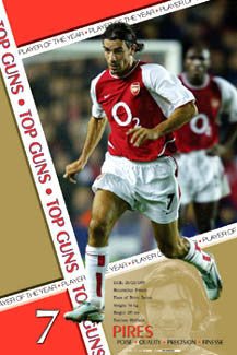 "Robert Pires ""Player of the Year"" Arsenal FC Poster - U.K. 2003"