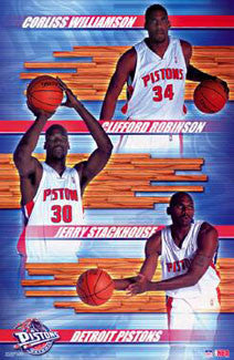 "Detroit Pistons ""Three Stars"" - Starline 2001"