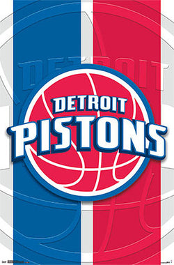 Detroit Pistons Official NBA Basketball Team Logo Poster - Costacos Sports