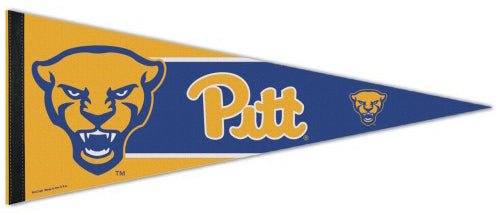 "University of Pittsburgh Pitt Panthers ""Scowling Cat"" NCAA Team Premium Felt Collector's Pennant - Wincraft Inc."