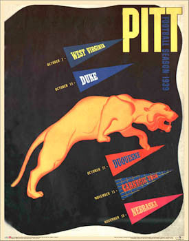 "University of Pittsburgh ""Pitt Football 1939"" Vintage Program Cover Poster Print - Asgard Press"