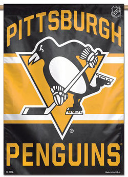 Pittsburgh Penguins Official NHL Hockey Team Premium 28x40 Wall Banner - Wincraft Inc.