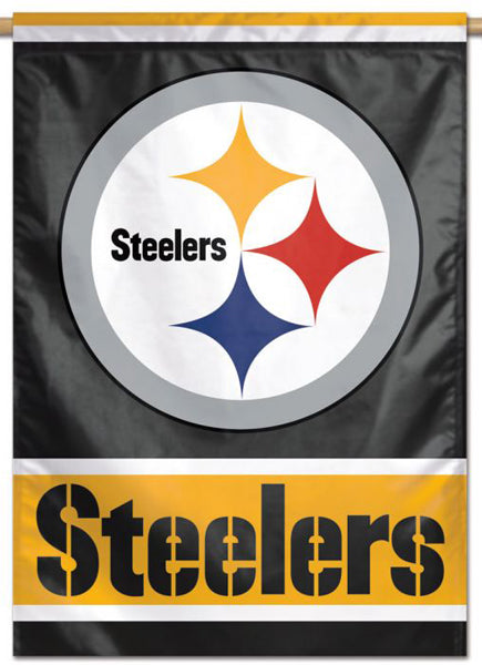 Pittsburgh Steelers Official NFL Team Logo-Style 28x40 Wall BANNER - Wincraft Inc.