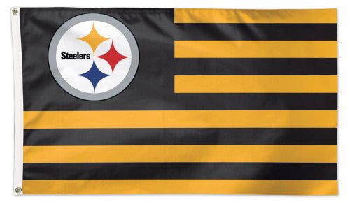 "Pittsburgh Steelers ""Americana"" Official NFL Football HUGE 3'x5' Deluxe-Edition Team FLAG - Wincraft"