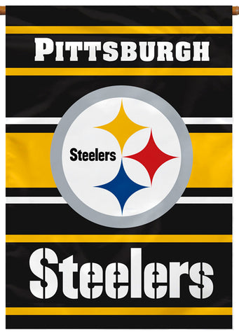 Pittsburgh Steelers Official NFL Football Team Premium 28x40 Banner Flag - BSI Products