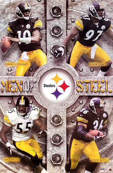 "Pittsburgh Steelers ""Men of Steel "" Poster (Kordell, Kendrell, Porter, Bettis) - Starline 2002"