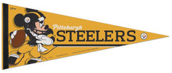 "Pittsburgh Steelers ""Mickey QB Gunslinger"" Official NFL/Disney Premium Felt Pennant - Wincraft Inc."