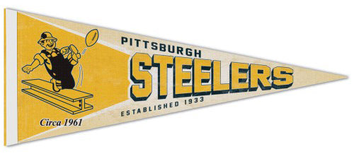 d1262d3eb Pittsburgh Steelers NFL Retro-1960s-Style Premium Felt Collector's Pennant  - Wincraft Inc. – Sports Poster Warehouse