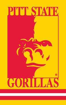 Pittsburg State Gorillas Premium Applique Banner - Party Animal Inc.