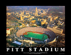 University of Pittsburgh Football Pitt Stadium Final Game Aerial View Poster (1999)