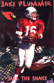"Jake Plummer ""Rattler"" Arizona Cardinals Poster - Starline Inc. 1998"