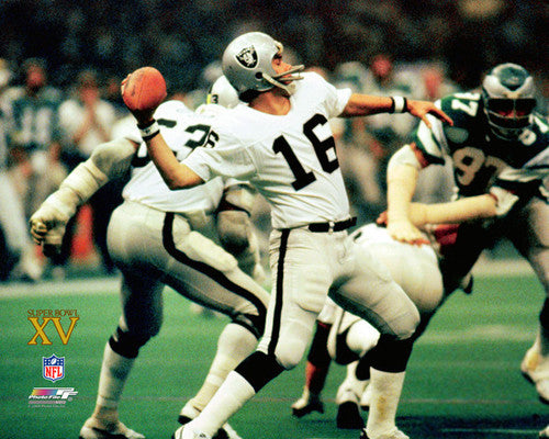 Jim Plunkett SUPER BOWL XV (1981) Oakland Raiders Poster Print - Photofile Inc.