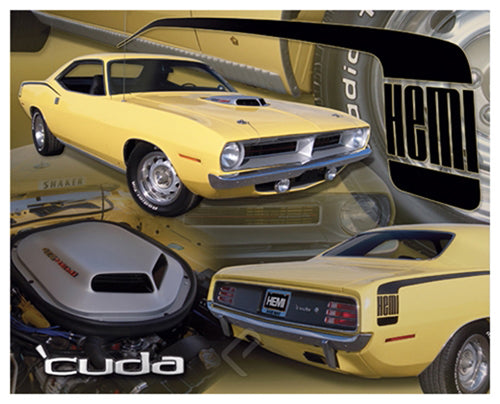 Plymouth Barracuda Hemi (1970) Muscle Car Autophile SuperCollage Poster - Eurographics Inc.