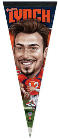 Paxton Lynch Denver Broncos Caricature-Style Premium Felt NFL Collector's PENNANT - Wincraft 2016