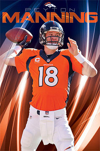 "Peyton Manning ""Superstar"" Denver Broncos Official NFL Football Poster - Costacos 2014"