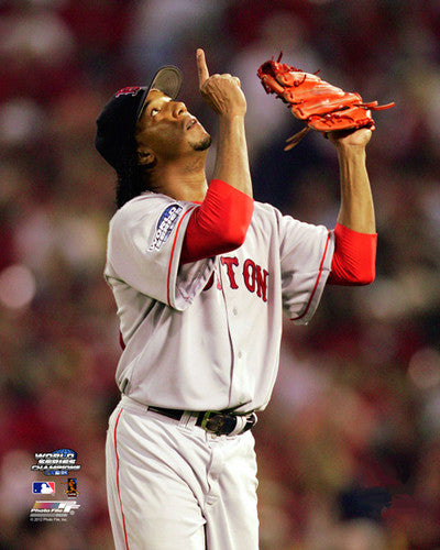 "Pedro Martinez ""Divine"" (2004 World Series) Boston Red Sox Premium Poster Print - Photofile"