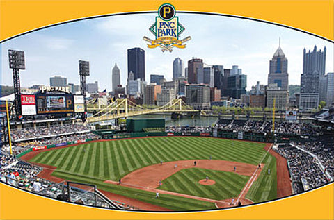 PNC Park Pittsburgh Pirates Gameday Poster - Costacos Sports