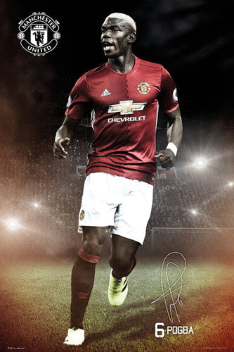 Paul Pogba Manchester United FC Signature Series Official EPL Poster - GB Eye 2016/17