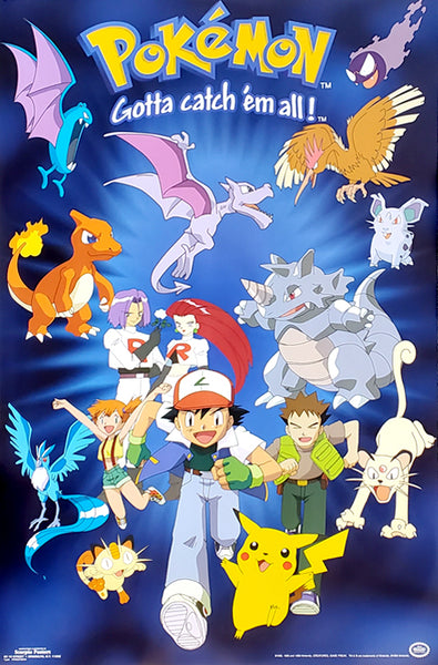 "Pokemon ""Running to Glory"" Gotta Catch 'Em All Poster - Scorpio Posters 1999"