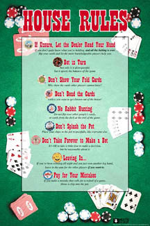 "Poker ""House Rules"" Poster - Aquarius Images"