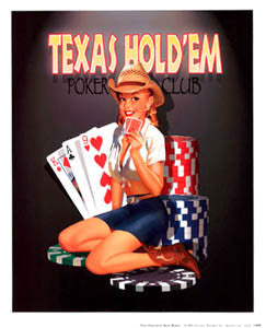 """Texas Hold'em Poker Club"" (Ralph Burch) - Haddad's Fine Art"