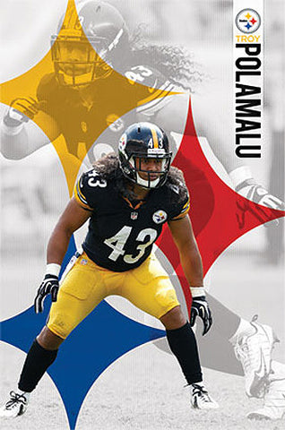 "Troy Polamalu ""Pittsburgh Strong"" Pittsburgh Steelers NFL Football Poster - Costacos 2014"