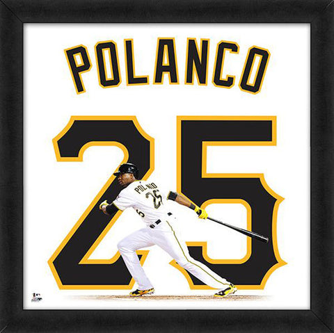 "Gregory Polanco ""Number 25"" Pittsburgh Pirates FRAMED 20x20 UNIFRAME PRINT - Photofile"