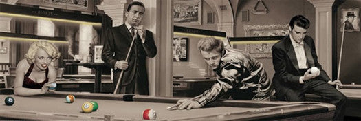Game of Fate (Legends Playing Pool) HUGE Wall-Sized Poster - Pyramid International