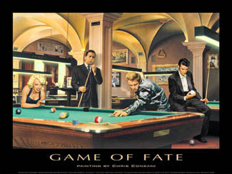 "Legends Playing Pool ""Game of Fate"" by Chris Consani - Jadei Graphics"