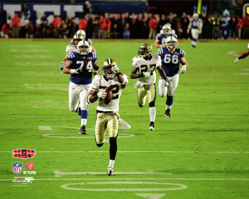 "Tracy Porter ""Seal the Deal"" (SB INT Return) New Orleans Saints Premium Poster - Photofile 16x20"