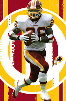 "Clinton Portis ""Superstar"" Washington Redskins Poster - Costacos 2004"