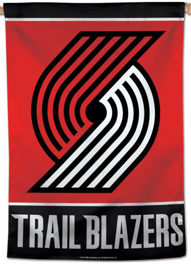 Portland Trail Blazers Official NBA Basketball Premium 28x40 Team Logo Wall Banner - Wincraft Inc.