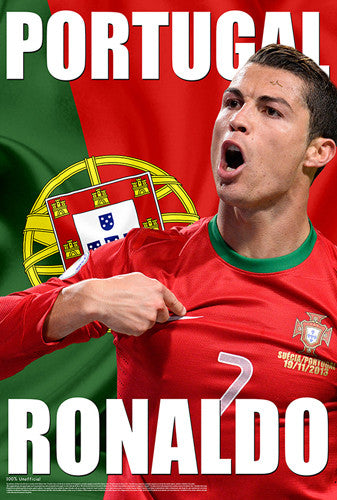 "Cristiano Ronaldo ""Portugal Proud"" World Cup 2014 Soccer Superstar Poster - Starz"