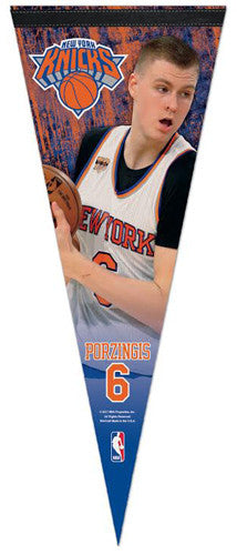 Kristaps Porzingis New York Knicks Superstar Series Premium Felt Collector's Pennant - Wincraft 2017