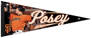 "Buster Posey ""Action"" Premium Felt Collector's Pennant (LE /1000)"