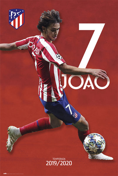 "Joao Felix ""Superstar"" Atletico Madrid Official Team Portrait Poster - G.E. (Spain)"