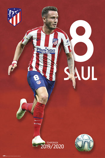 "Saul Niguez ""Superstar"" Atletico Madrid Official Team Portrait Poster - G.E. (Spain)"