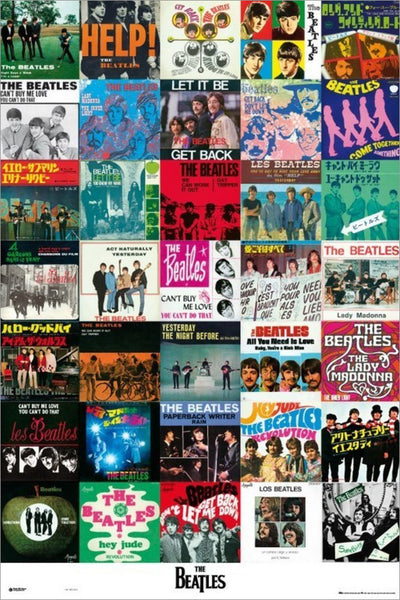 The Beatles Singles Poster (42 1960s Record Covers) - Grupo Erik