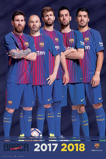 "FC Barcelona ""Bring It"" Official Poster (Messi, Suarez, Iniesta, Pique, Busto) - Grupo Erik 2017/18"