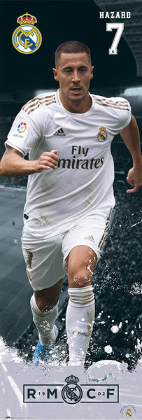 "Eden Hazard ""Storming"" HUGE Door-Sized Real Madrid RMCF Football Soccer Poster - Grupo Erik (Spain)"