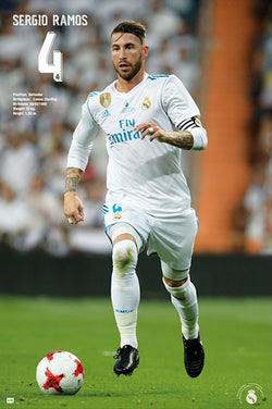 "Sergio Ramos ""Airborne"" Real Madrid CF Football Legend Poster - G.E. (Spain)"