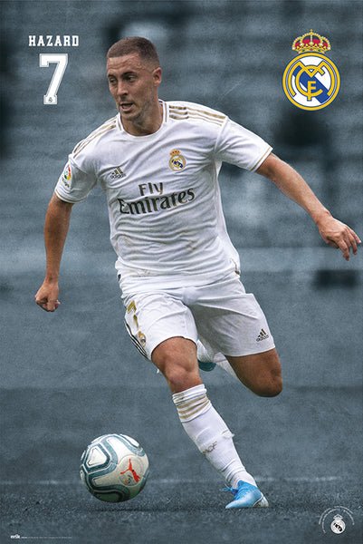 "Eden Hazard ""Superstar"" Real Madrid CF Official La Liga Soccer Poster - G.E. (Spain) 2020"