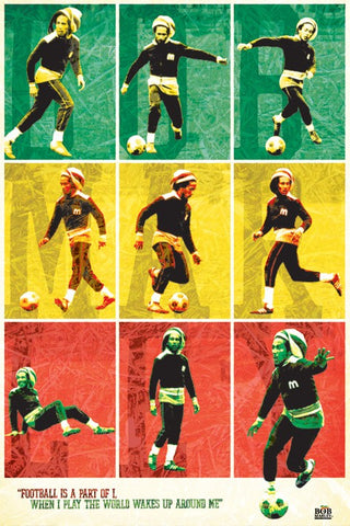 "Bob Marley ""Football is a part of I"" Soccer Poster - Pyramid Posters"