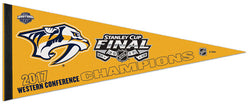 Nashville Predators 2017 Western Conference Champions Premium Felt Collector's Pennant - Wincraft