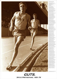 "Steve Prefontaine ""Guts"" Commemorative Running Poster - Sports Poster Warehouse"