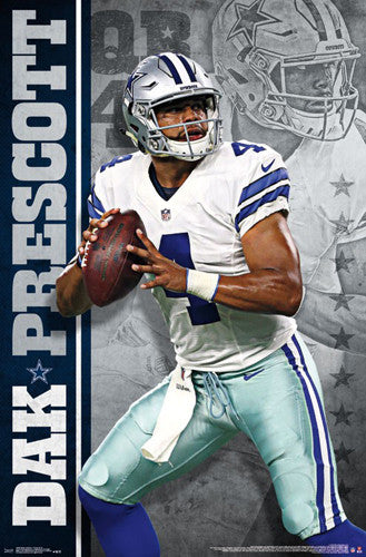 "Dak Prescott ""Gunslinger"" Dallas Cowboys QB NFL Action POSTER - Trends International"