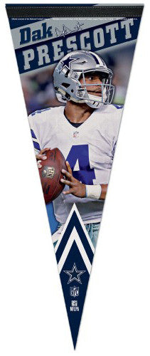Dak Prescott Dallas Cowboys Signature-Series Premium Felt Collector's PENNANT - Wincraft 2016