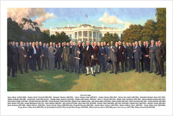 "The American Presidents ""South Lawn Portrait"" (1789-2017) Premium Poster Print - Patriart USA"